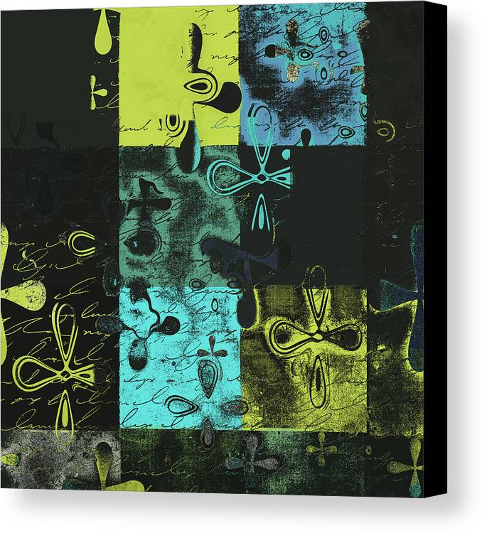 Abbstract Floral Digital Art Canvas Print featuring the digital art Florus Pokus A02 by Variance Collections