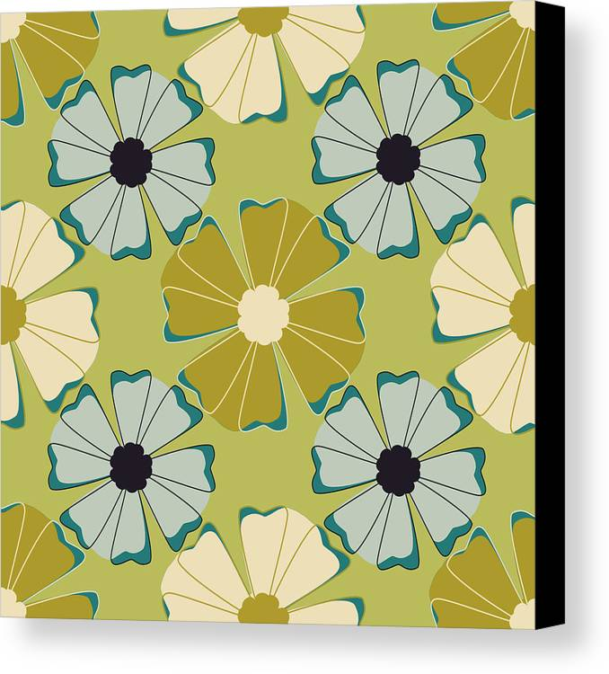 Posters Canvas Print featuring the digital art Flowers 3 by Lisa Noneman