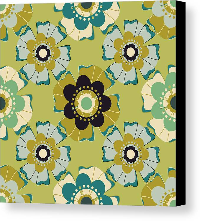 Posters Canvas Print featuring the digital art Flowers 4 by Lisa Noneman