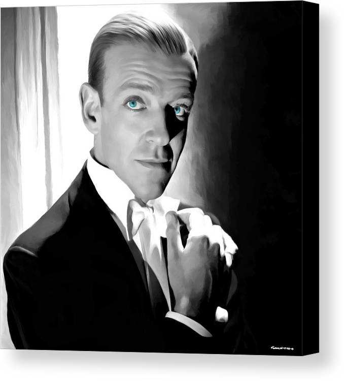Fred Astaire Canvas Print featuring the digital art Fred Astaire Portrait by Gabriel T Toro