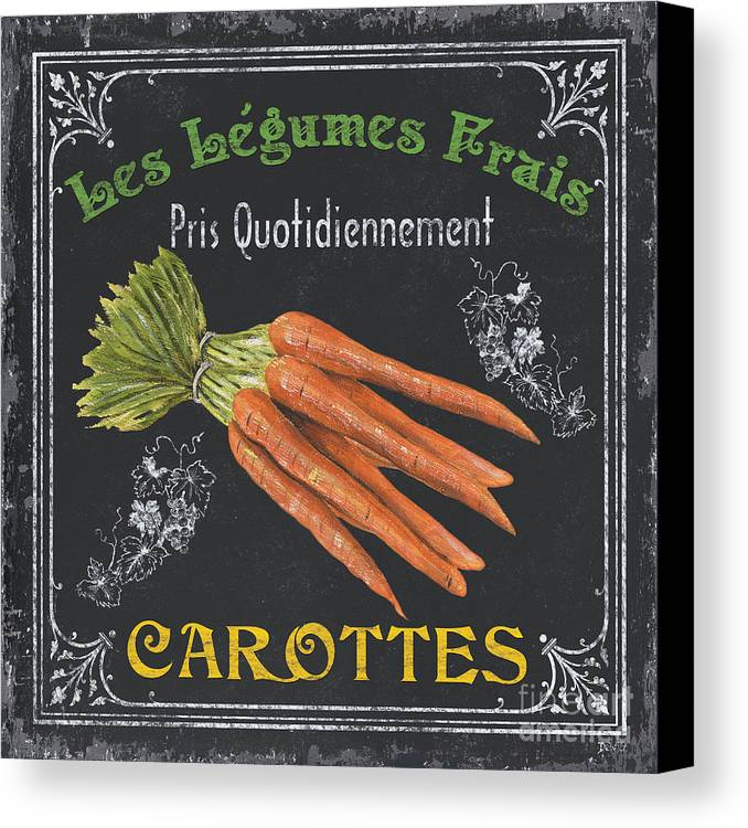 Produce Canvas Print featuring the painting French Vegetables 4 by Debbie DeWitt