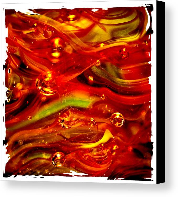 Glass Canvas Print featuring the photograph Glass Macro Abstract Rf1ce by David Patterson