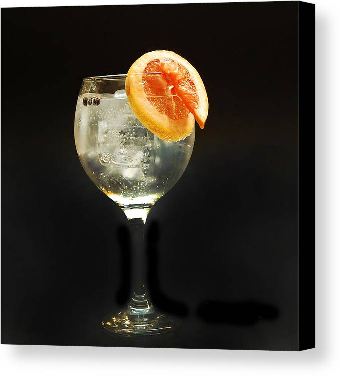 Gintonic Canvas Print featuring the photograph Grapefruit Gin Tonic by Gina Dsgn