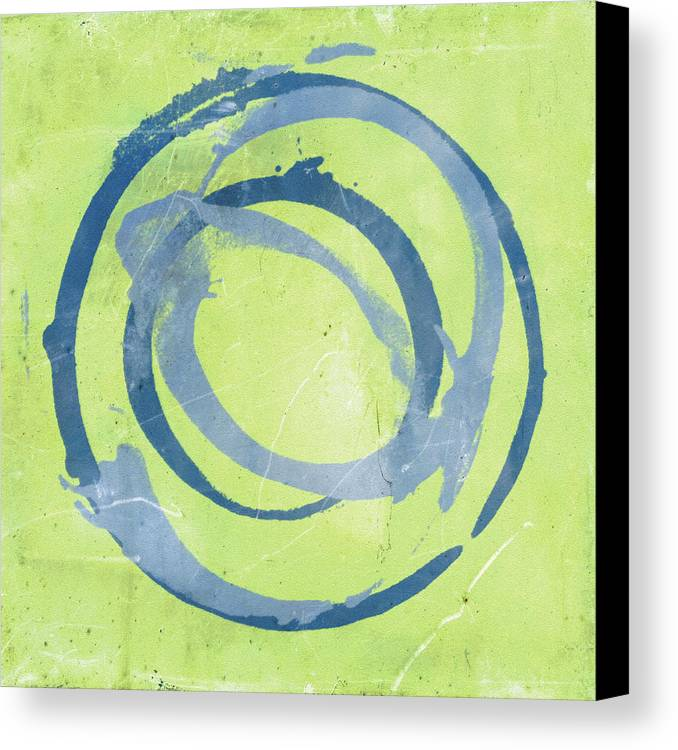 Green Canvas Print featuring the painting Green Blue by Julie Niemela