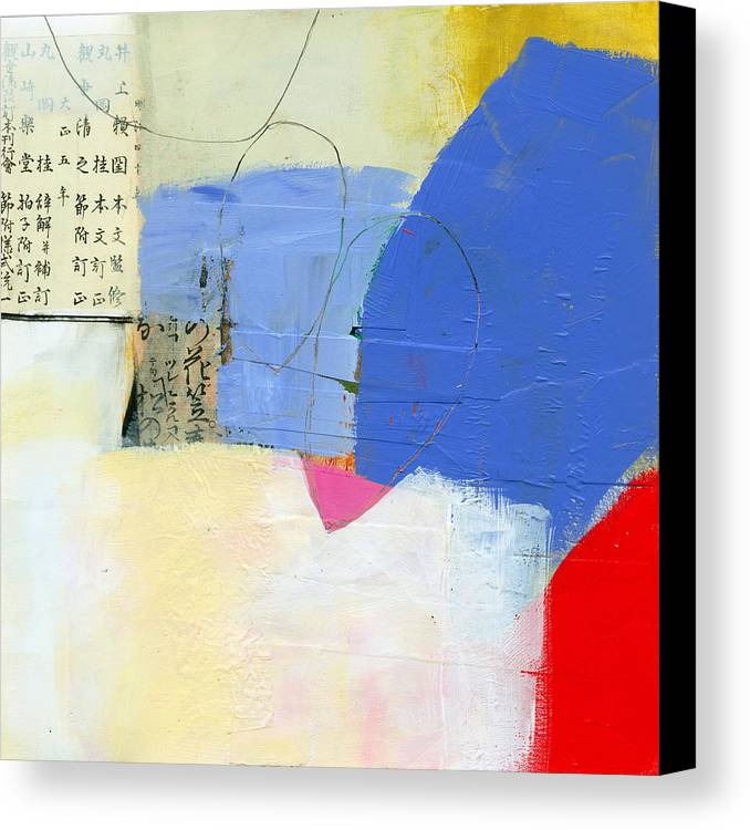 Jane Davies Canvas Print featuring the painting Grid 7 by Jane Davies