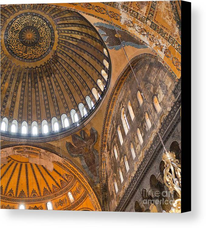 Hagia Canvas Print featuring the photograph Hagia Sofia Interior 04 by Antony McAulay