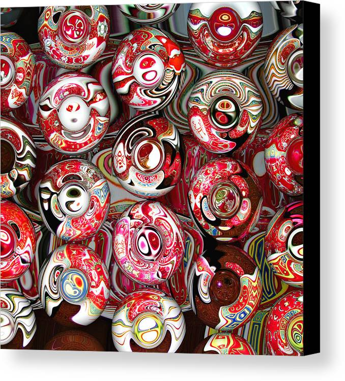 Abstract Canvas Print featuring the digital art Hard Candies by Wendy J St Christopher