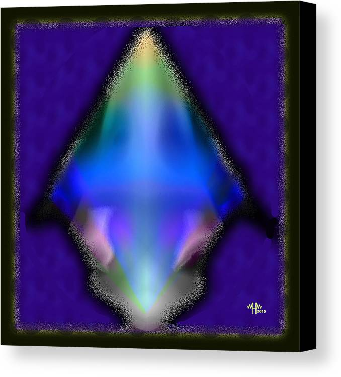 Geometric Abstract Canvas Print featuring the digital art I Shot An Arrow by Warren Furman