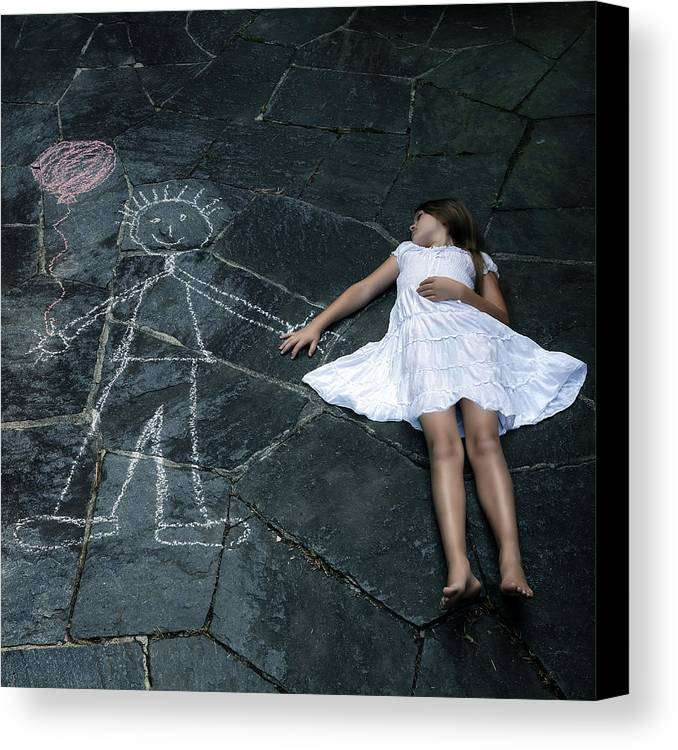 Girl Canvas Print featuring the photograph Imaginary Friend by Joana Kruse