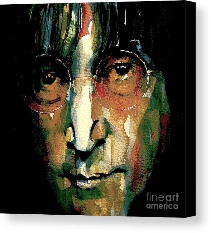 John Lennon Canvas Print featuring the painting Instant Karma by Paul Lovering