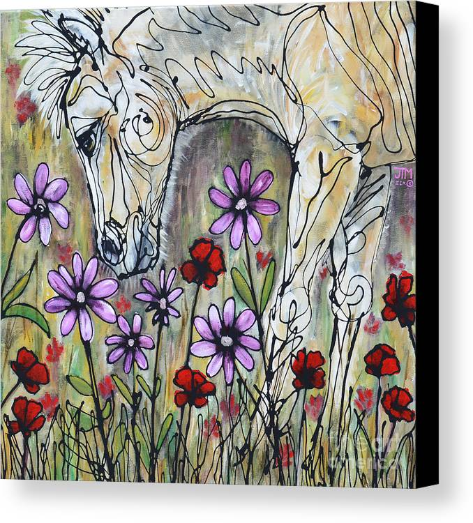 Horse Canvas Print featuring the painting It's A Girl by Jonelle T McCoy