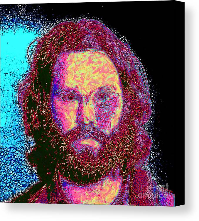 Jim Morrison Canvas Print featuring the photograph Jim Morrison 20130329 Square by Wingsdomain Art and Photography