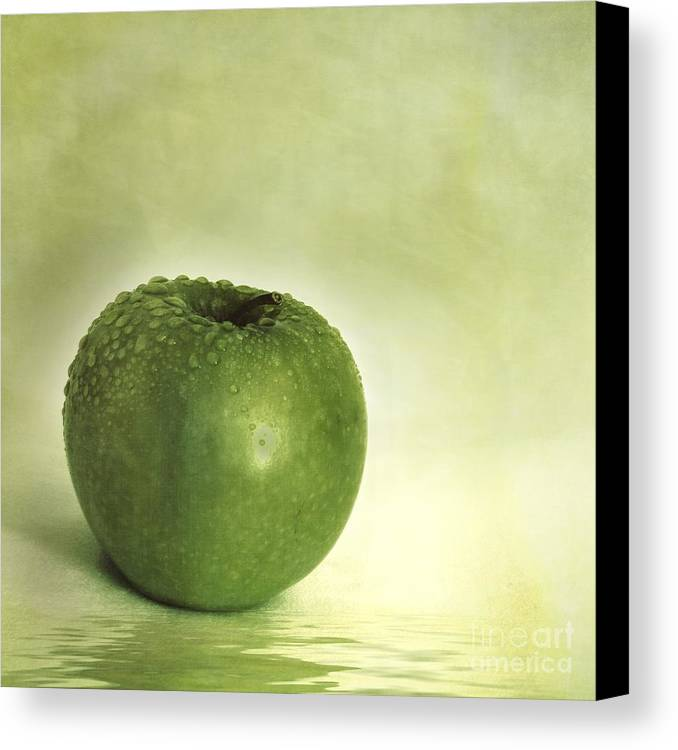 Apple Canvas Print featuring the photograph Just Green by Priska Wettstein