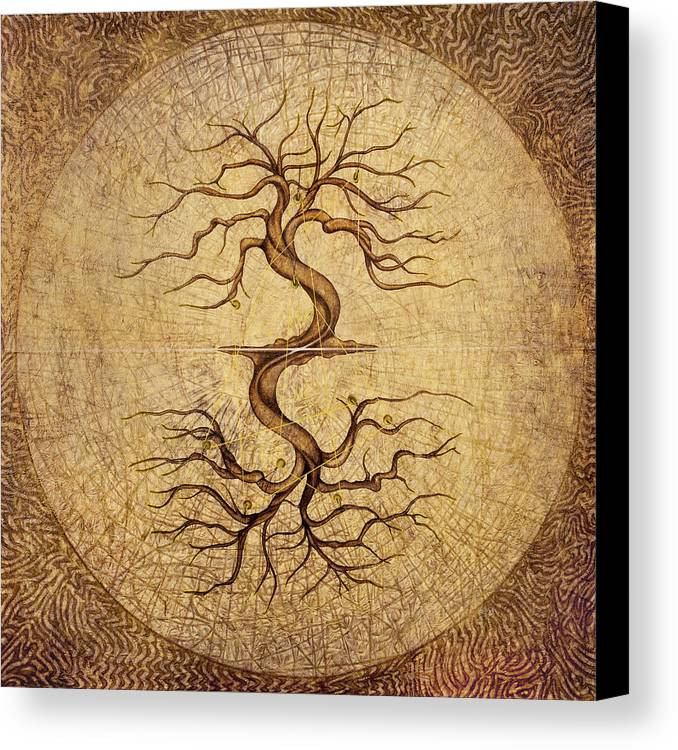 Karma Canvas Print featuring the painting Karmic by Horacio Cardozo