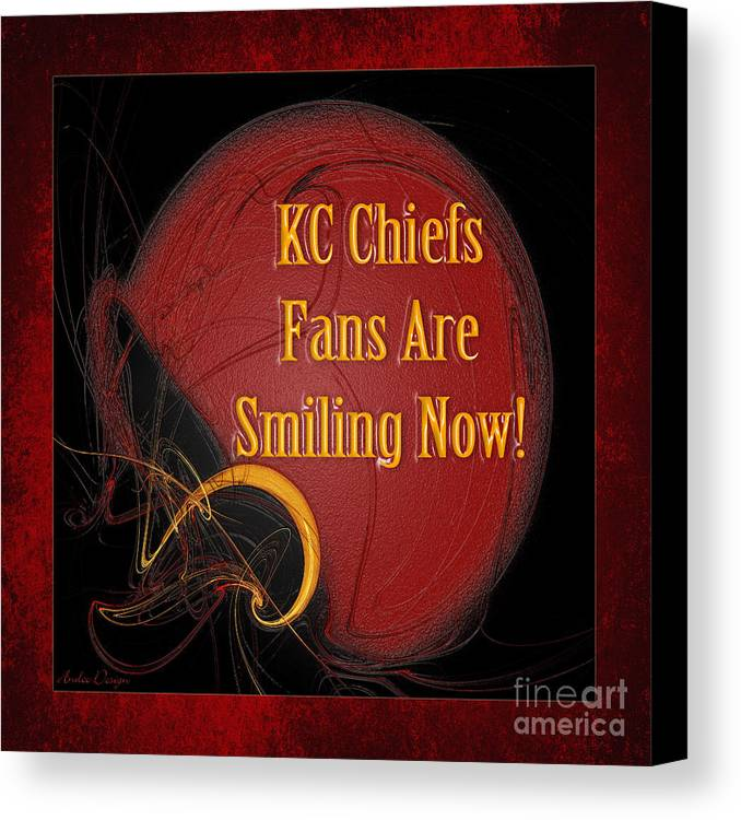 Kc Chiefs Fans Are Smiling Now Canvas Print / Canvas Art by Andee Design