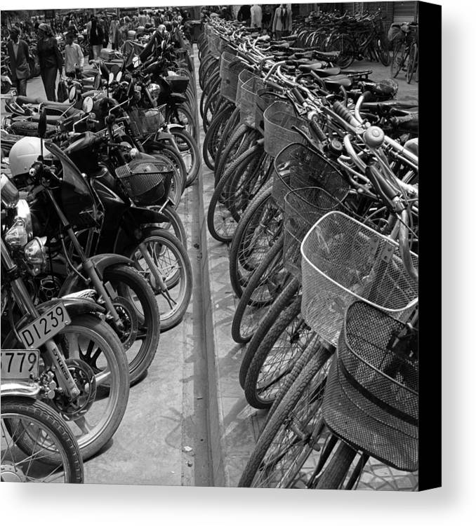 Analog Canvas Print featuring the photograph Line Up by Brian Neely