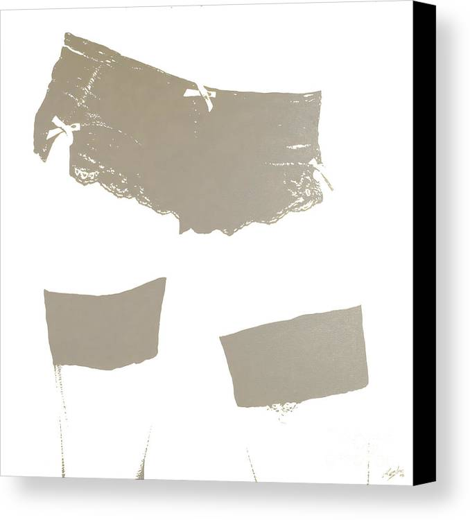 Erotic Canvas Print featuring the painting Lingerie Iv by John Silver