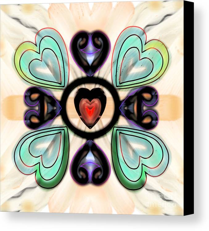 Hearts Canvas Print featuring the digital art Little Hearts-3 by Pratyasha Nithin