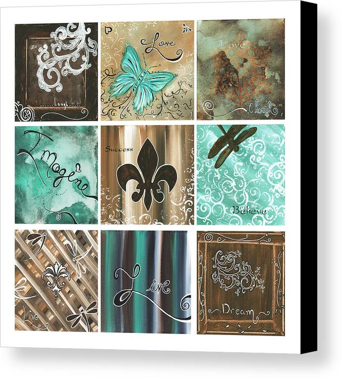 Abstract Canvas Print featuring the painting Live And Love By Madart by Megan Duncanson