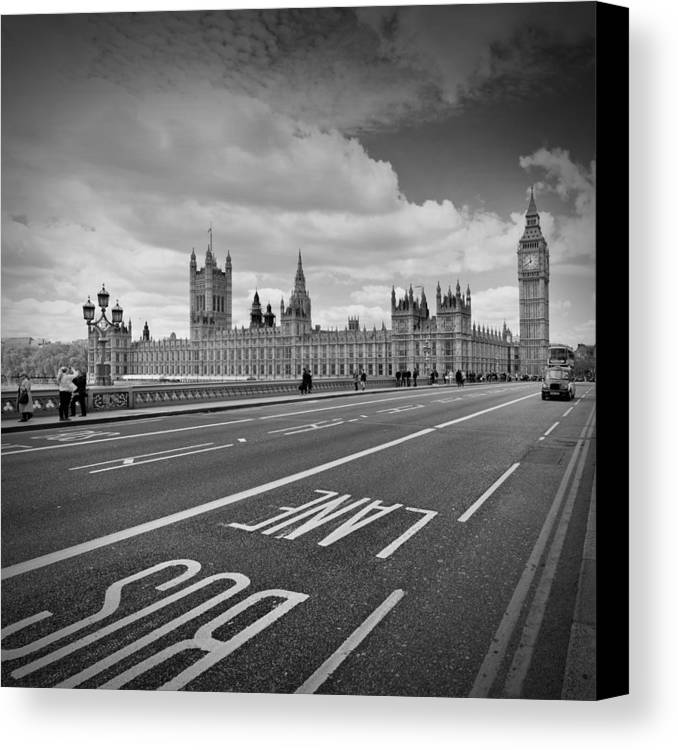 British Canvas Print featuring the photograph London - Houses Of Parliament by Melanie Viola