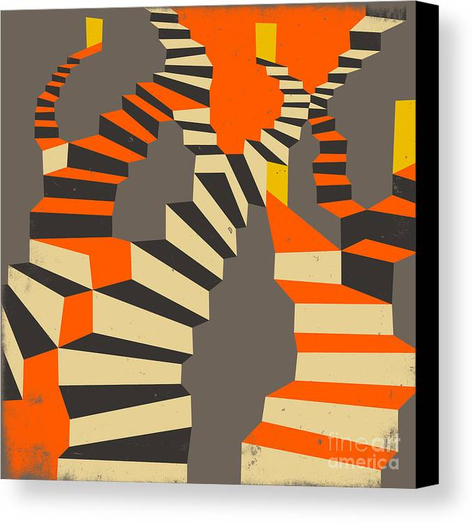 Modern Canvas Print featuring the digital art Lost And Found by Jazzberry Blue