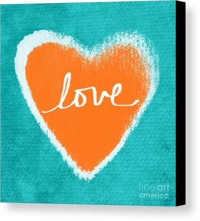 Heart Canvas Print featuring the mixed media Love by Linda Woods