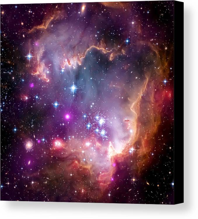 Universe Canvas Print featuring the photograph Magellanic Cloud 3 by Jennifer Rondinelli Reilly - Fine Art Photography
