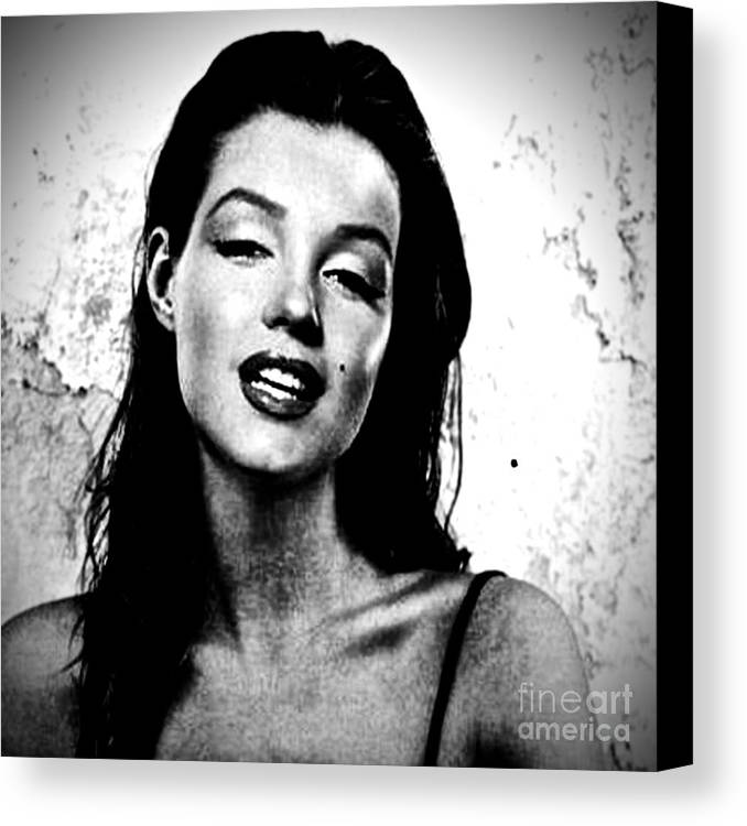 Marilyn Monroe--brunette Canvas Print / Canvas Art by Saundra Myles