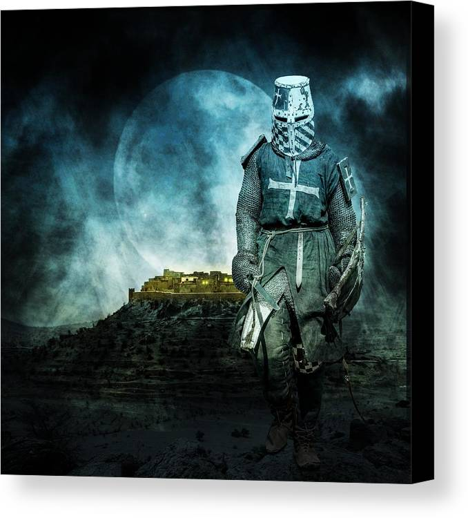 Ages Canvas Print featuring the photograph Medieval Crusader by Jaroslaw Grudzinski