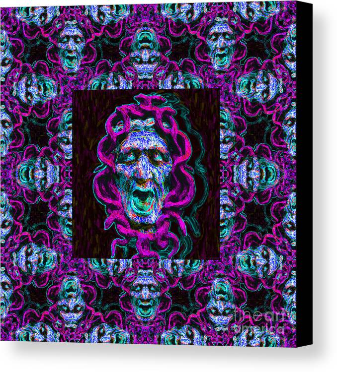 Medusa Canvas Print featuring the photograph Medusa's Window 20130131m180 by Wingsdomain Art and Photography