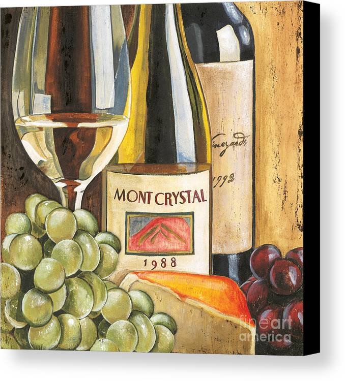 Green Grapes Canvas Print featuring the painting Mont Crystal 1988 by Debbie DeWitt