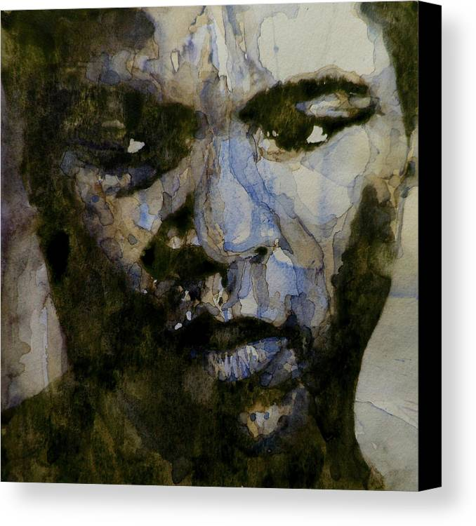 Muhammad Ali Canvas Print featuring the painting Muhammad Ali A Change Is Gonna Come by Paul Lovering