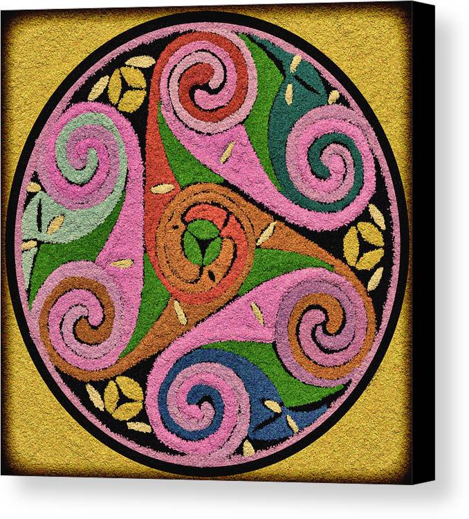Multicolor Triskelion Celtic Symbol I Canvas Print Canvas Art By K I M