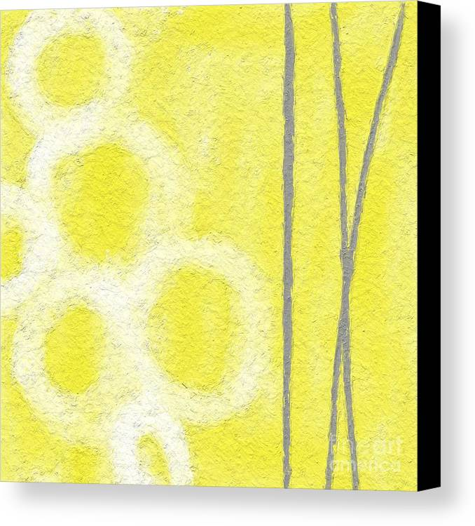 Abstract Art Canvas Print featuring the painting Narcissus by Linda Woods
