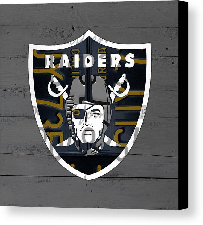 Oakland Raiders Football Team Retro Logo California
