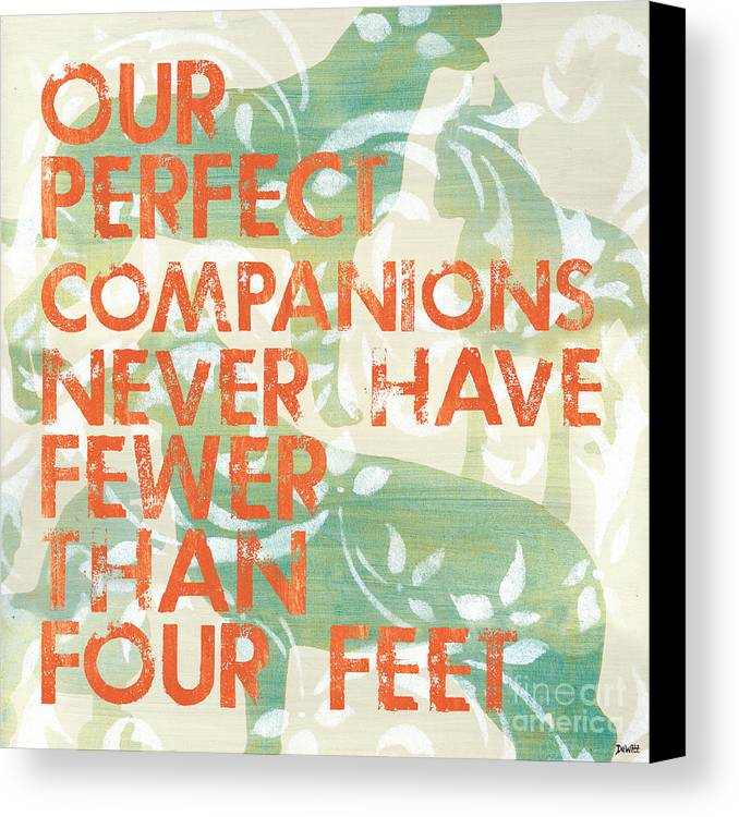 Inspirational Canvas Print featuring the painting Our Perfect Companion by Debbie DeWitt