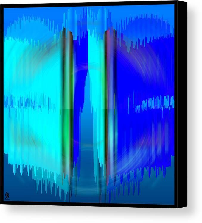 Pacan Canvas Print featuring the digital art Pacan - Blue by Daniels Aesthetics