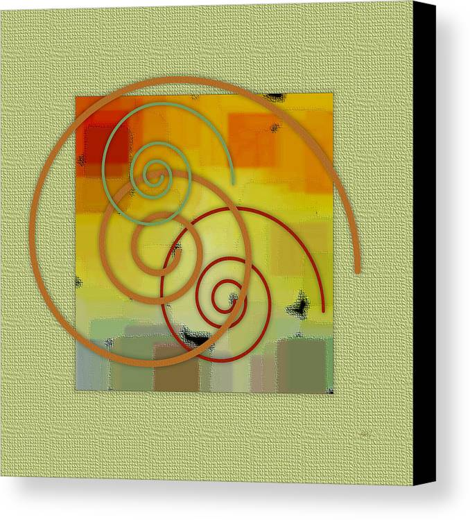 Abstract Canvas Print featuring the digital art Patchwork II by Ben and Raisa Gertsberg