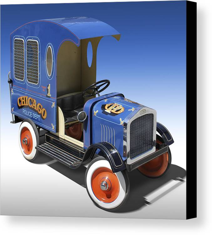 Peddle Car Canvas Print featuring the photograph Police Peddle Car by Mike McGlothlen