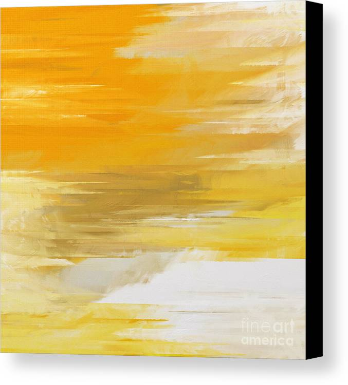 Abstract Canvas Print featuring the digital art Precious Metals Abstract by Andee Design