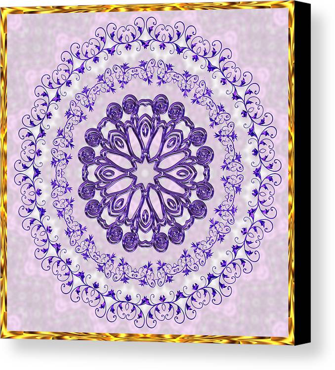 Gold Canvas Print featuring the digital art Purple And Pink by Pat Follett