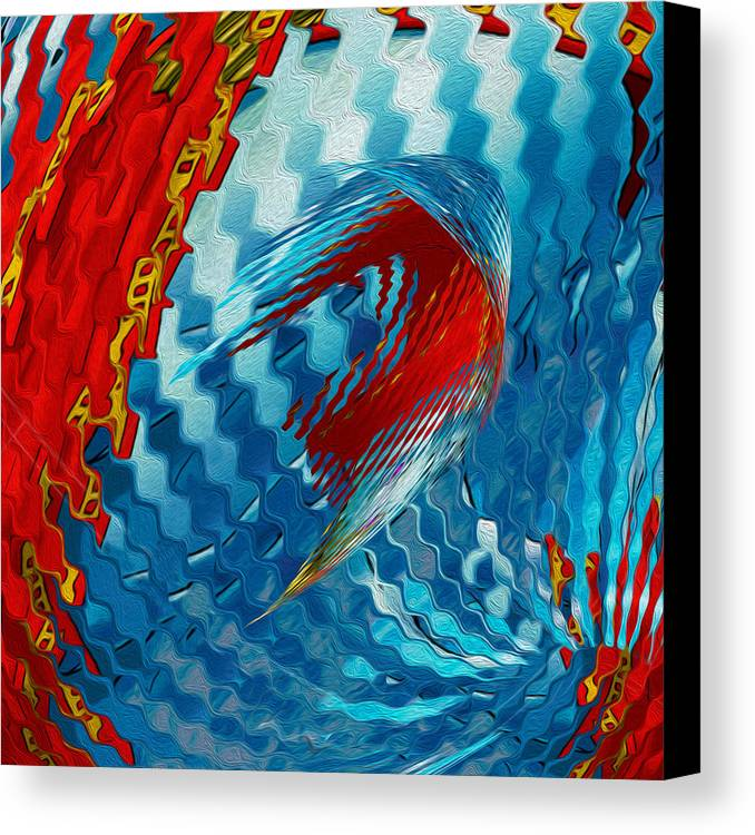 Abstract Canvas Print featuring the painting Ribbons Journey by Jack Zulli