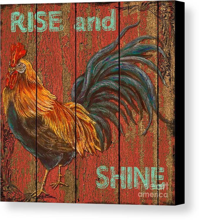 Digital Art Canvas Print featuring the mixed media Rise And Shine by Jean PLout