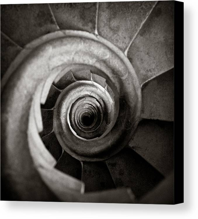 La Sagrada Familia Canvas Print featuring the photograph Sagrada Familia Steps by Dave Bowman