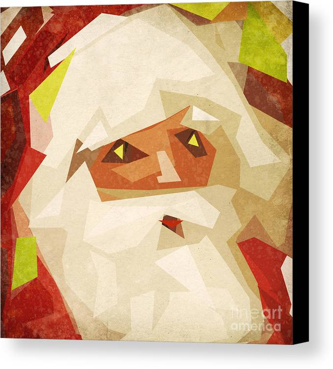 Abstract Canvas Print featuring the painting Santa Claus by Setsiri Silapasuwanchai