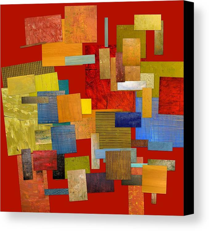 Textural Canvas Print featuring the painting Scrambled Eggs L by Michelle Calkins
