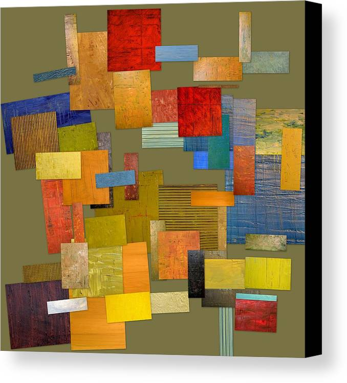Textural Canvas Print featuring the painting Scrambled Eggs Ll by Michelle Calkins