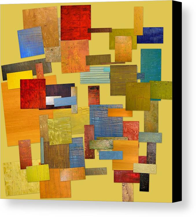 Textural Canvas Print featuring the painting Scrambled Eggs Lll by Michelle Calkins