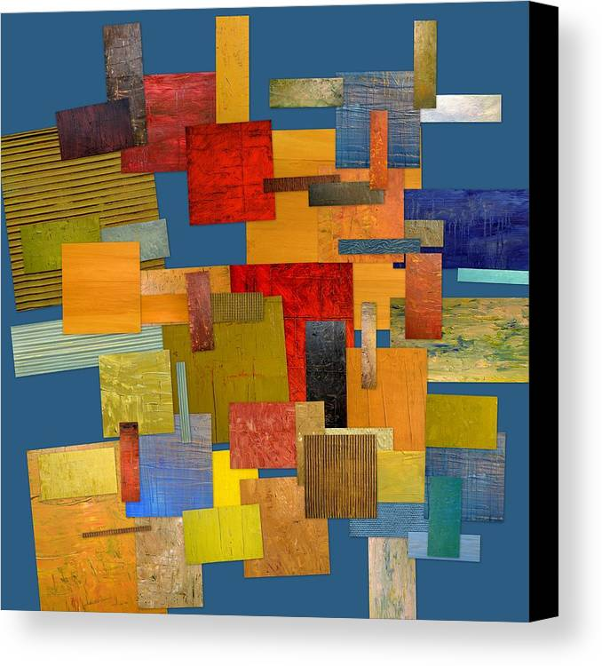 Textural Canvas Print featuring the painting Scrambled Eggs Lv by Michelle Calkins