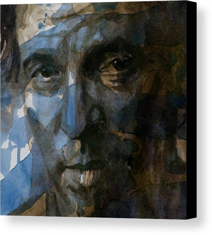 Bruce Springsteen Canvas Print featuring the painting Shackled And Drawn by Paul Lovering